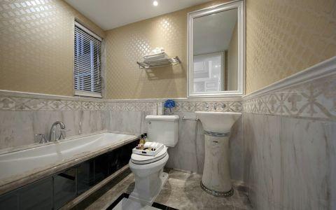 卫生间洗漱台新古典风格装潢效果图
