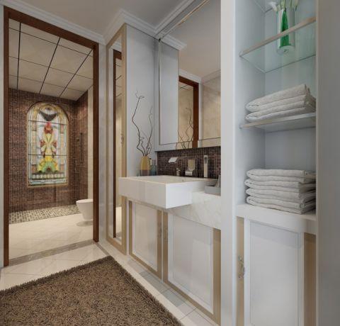 卫生间洗漱台中式风格装修设计图片