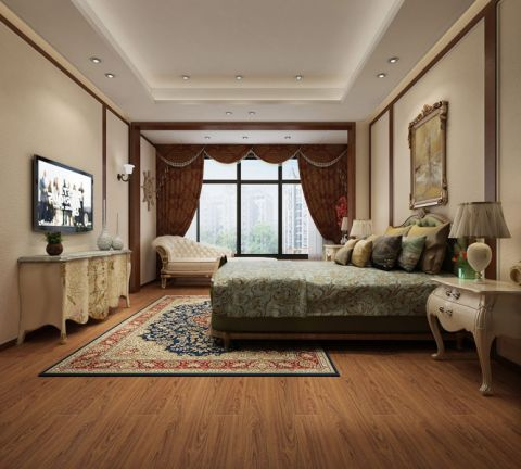 卧室电视柜中式风格装饰效果图