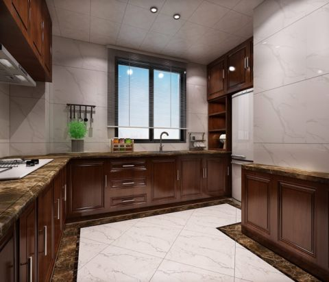 厨房橱柜中式风格装修图片