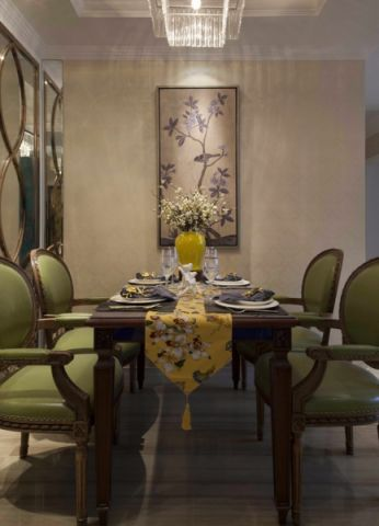 餐厅餐桌混搭风格装修设计图片