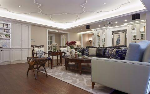 美式风格120平米三室两厅室内装修效果图