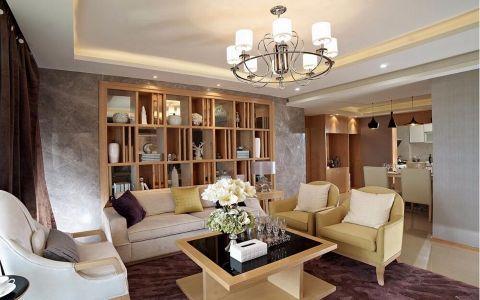 现代风格128平米三居室室内装修效果图