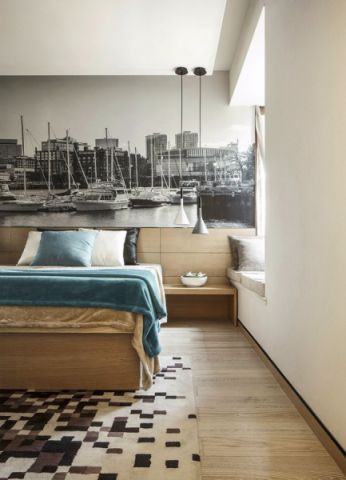卧室地板砖新古典风格装潢图片
