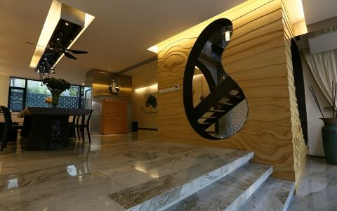 餐厅地砖现代风格装潢效果图