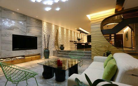 现代风格158平米三室两厅新房装修效果图