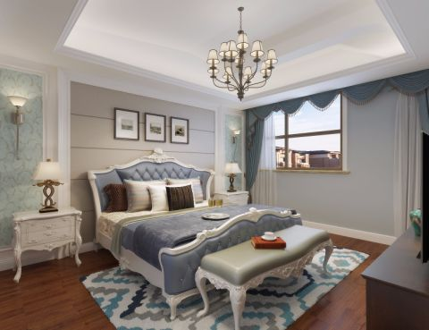 卧室吊顶田园风格装修设计图片