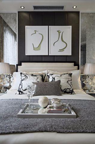 卧室床欧式风格装潢图片