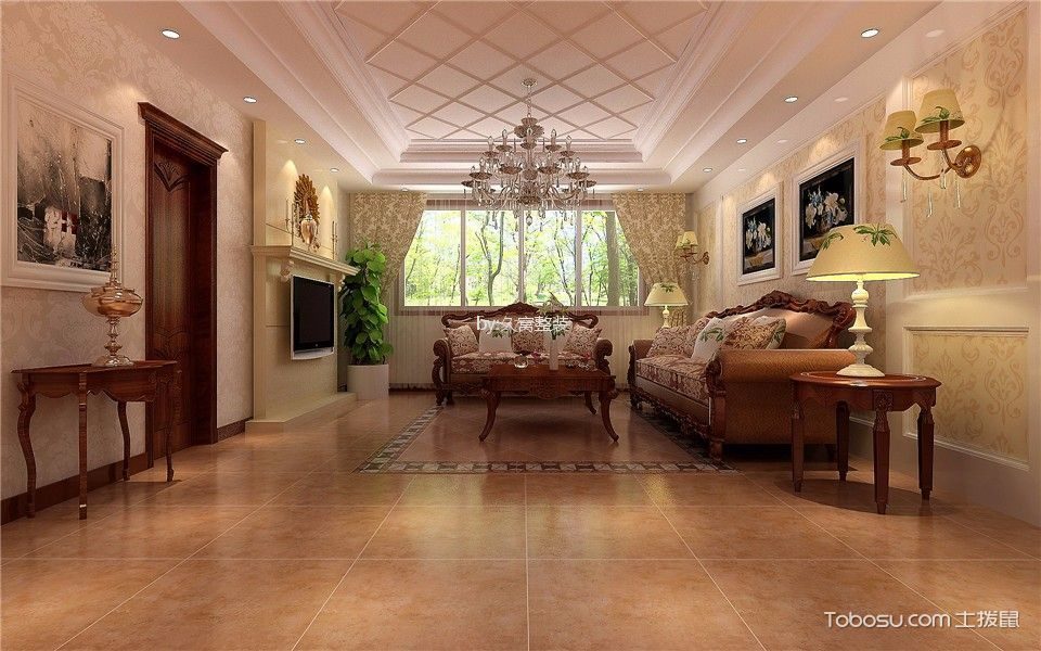 欧式风格100平米套房新房装修效果图