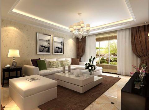 现代简约风格145平米大户型室内装修效果图