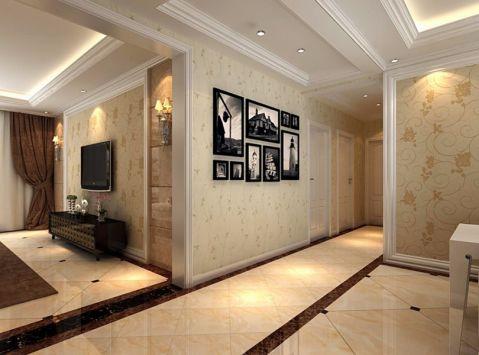 玄关照片墙现代简约风格装潢设计图片