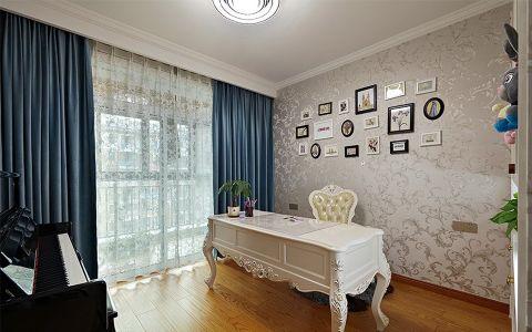书房照片墙简欧风格装饰图片