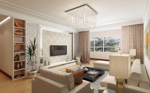 现代简约风格140平米两室两厅新房装修效果图