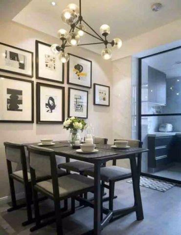 餐厅照片墙美式风格装潢设计图片