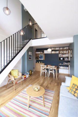 70平米现代简约风格loft住宅公寓装修效果图
