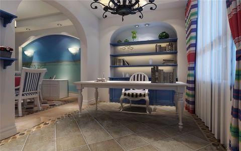 书房书桌地中海风格装修设计图片