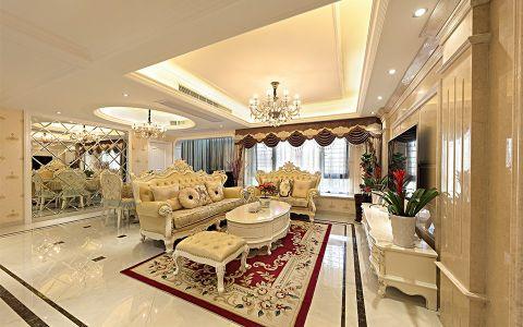简欧风格136平米四室两厅室内装修效果图
