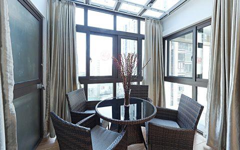 阳台窗帘简欧风格装潢图片