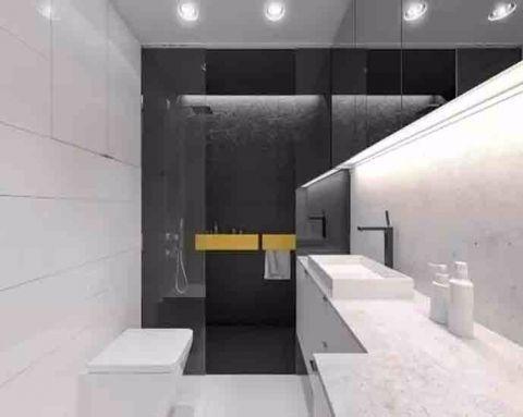 卫生间隐形门简约风格装饰图片