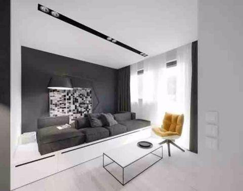 50平米简约风格单身公寓装修效果图