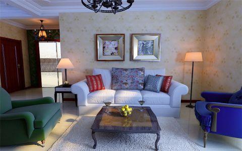 美式风格120平米楼房室内装修效果图
