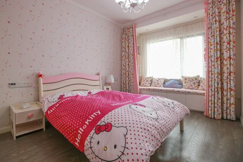 儿童房窗帘北欧风格装修设计图片