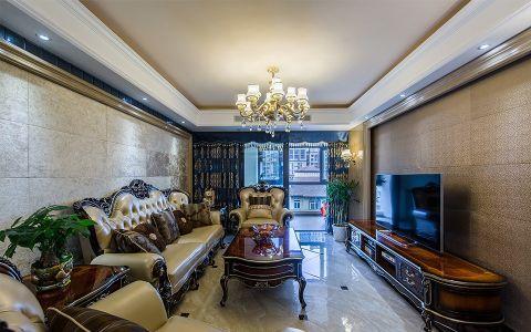 新古典风格125平米三室两厅新房装修效果图