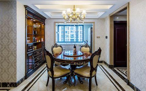 餐厅餐桌新古典风格装潢设计图片