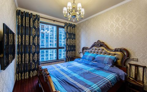卧室床新古典风格装修效果图