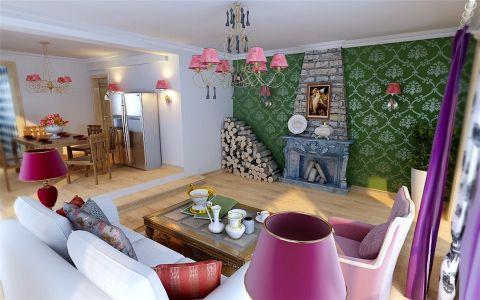 田园风格110平米套房室内装修效果图