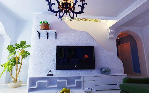 客厅电视柜地中海风格装饰设计图片