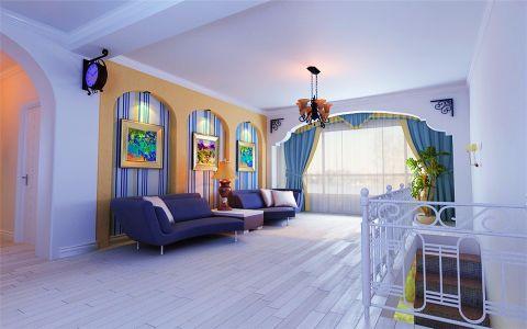 地中海风格90平米公寓室内装修效果图
