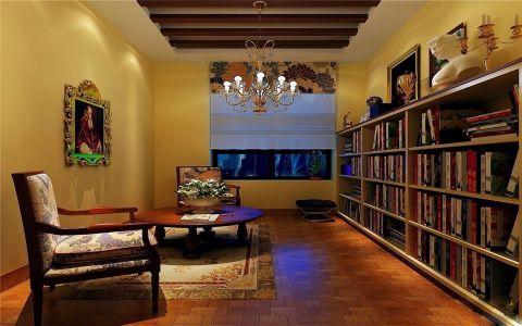 书房吊顶美式风格装修图片