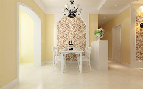 餐厅餐桌欧式田园风格装饰效果图