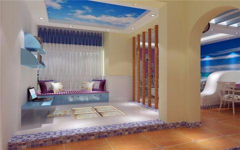 书房窗帘地中海风格装饰图片