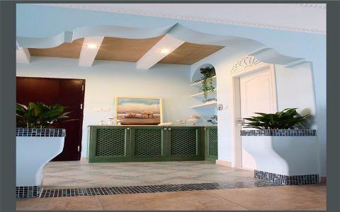 玄关背景墙地中海风格装潢图片