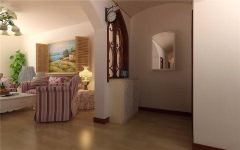 客厅隔断欧式田园风格装潢设计图片