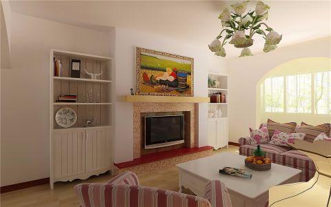 客厅欧式田园风格装饰效果图