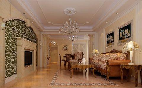 客厅照片墙欧式田园风格装饰设计图片