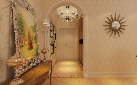 客厅走廊欧式田园风格装潢设计图片