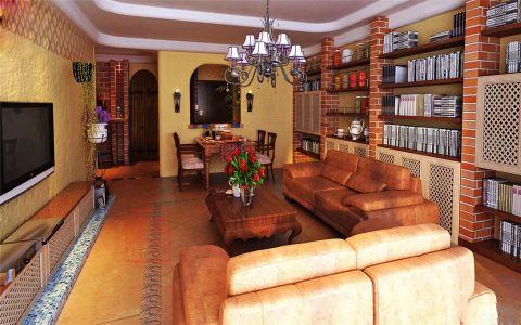 地中海风格130平米套房室内装修效果图