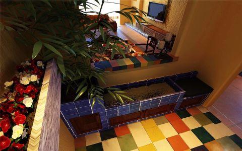 卫生间地砖地中海风格装潢效果图