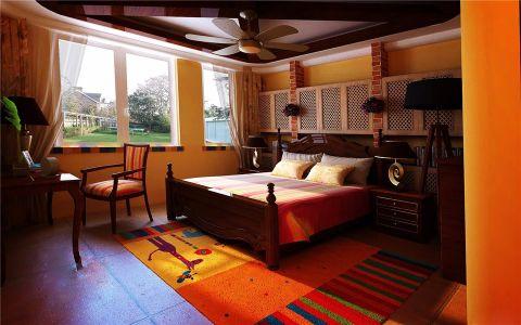 卧室地板砖地中海风格装潢图片