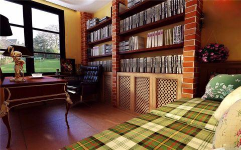 书房地板砖地中海风格装饰设计图片