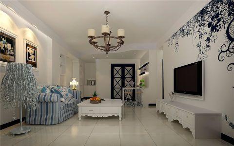 客厅沙发简欧风格装修图片
