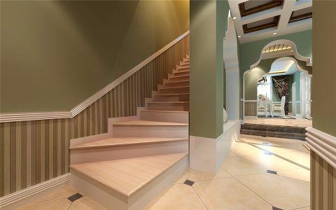 玄关楼梯欧式田园风格装修设计图片
