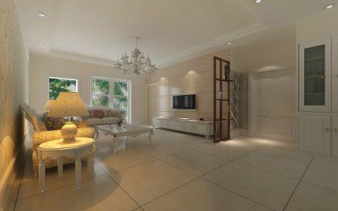 客厅吊顶欧式田园风格装修设计图片