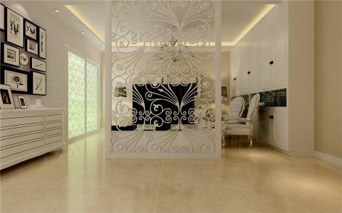 客厅隔断简欧风格装饰效果图