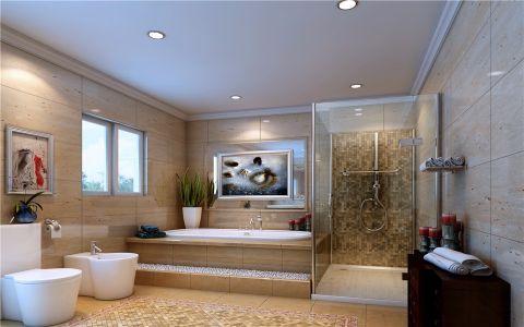 浴室浴缸简欧风格装修效果图