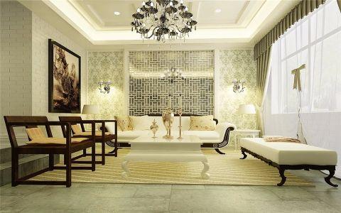 混搭风格120平米套房室内装修效果图